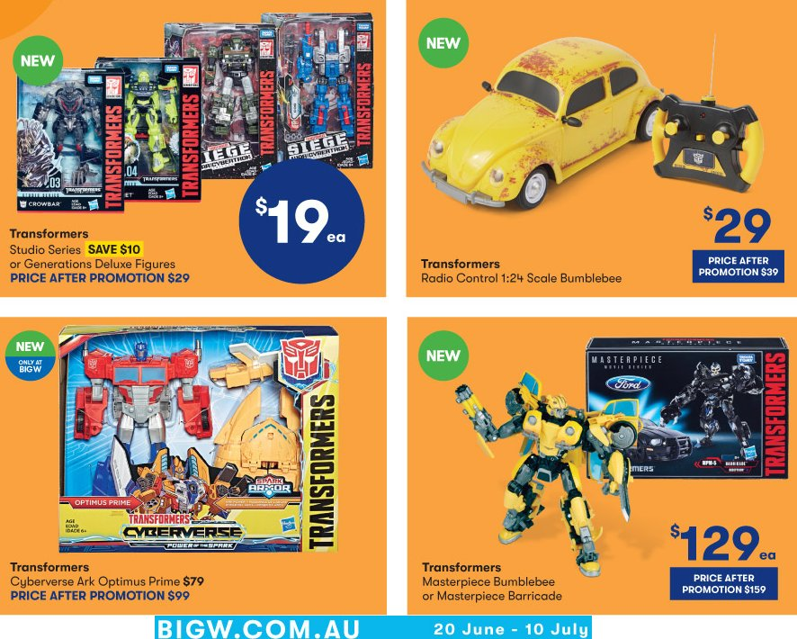 Big W Toy Sale 2019 - THUR June 20 to WED July 10
